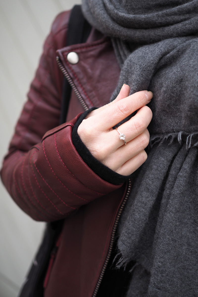 viininpunainen takki Huittinen